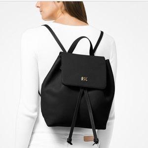 NWT MICHAEL Kors Junie Backpack Black Leather